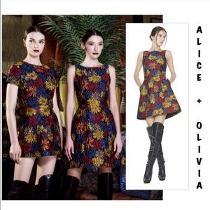 "Alice & Olivia ""Demetria"" floral jacquard dress 8"